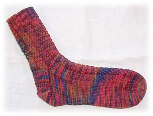 Socks knit by Linda L of Little Red Schoolhouse