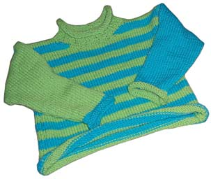 Toddler Sweater machine-knit by LynnH