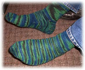 Socks knit by Tony F