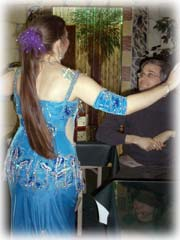 Lynn as Eudora, dancing for Brian