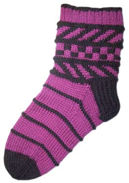 BarberPole Sock by LynnH