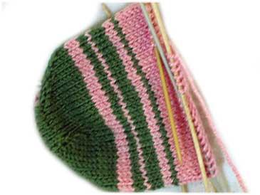pinkgreenstripedtoe