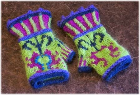 daughter mitts half-embroidered