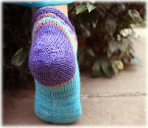 Crystal Heel from Knitty, by Lynn DT Hershberger