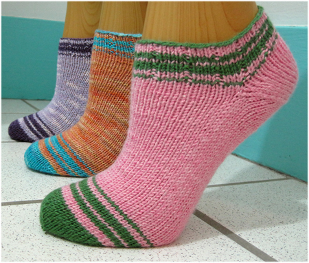 Summer Striped Socklets by ColorJoy LynnH
