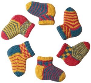 Six Baby Chippy Socks