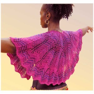 Colorama Crescent Shawl in 4 sizes
